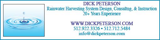 dick peterson rainwater harvesting