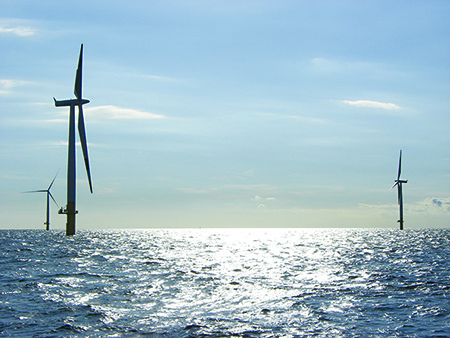 Offshore wind farm in Baltic Sea off German coast