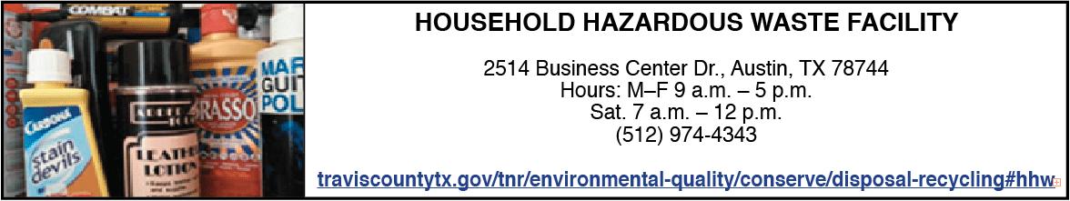 travis county household hazardous waste